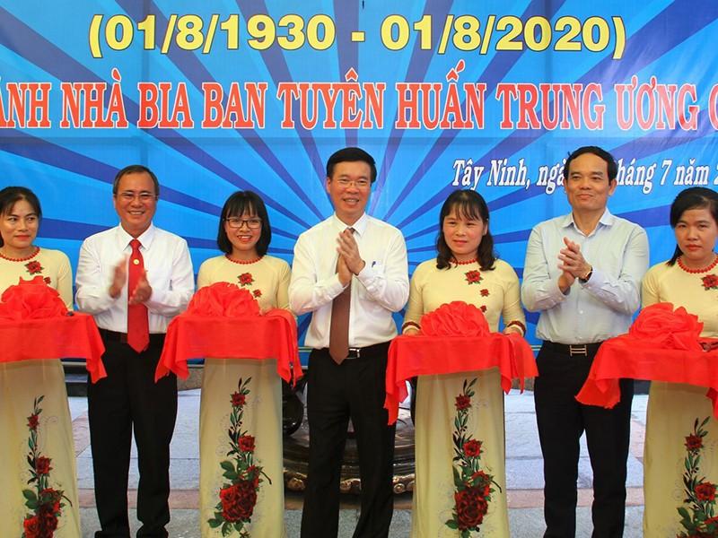 Khánh thành Nhà bia kỷ niệm Ban Tuyên huấn TW Cục miền Nam - ảnh 1