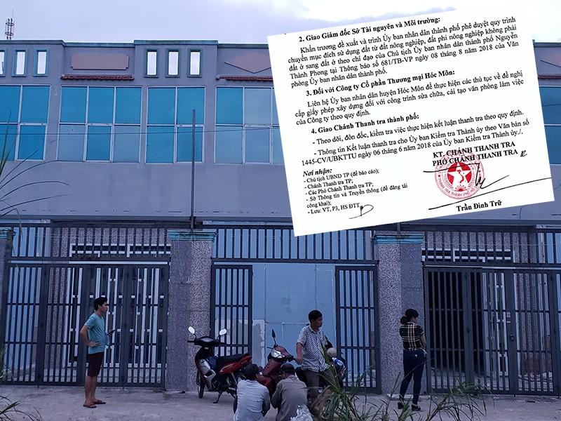 Đề nghị xử lý việc gây khó cho doanh nghiệp ở Hóc Môn - ảnh 1