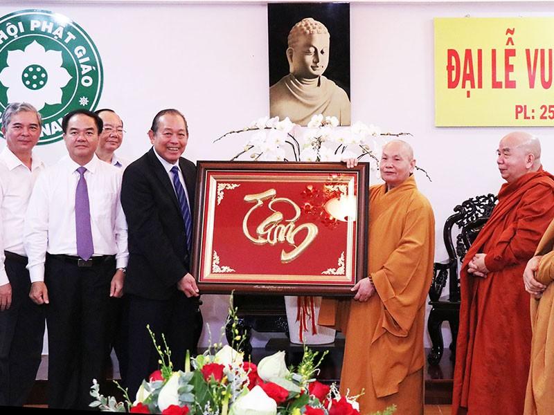 Phó Thủ tướng Trương Hòa Bình chúc mừng lễ Vu lan - ảnh 1