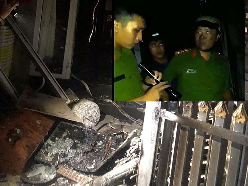 Cứu 5 người trong ngôi nhà bị đốt bằng xăng - ảnh 1