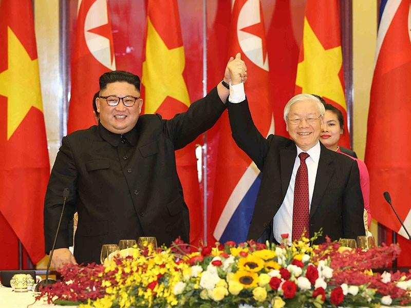 Điện mừng 75 năm ngày thành lập Đảng Lao động Triều Tiên - ảnh 1