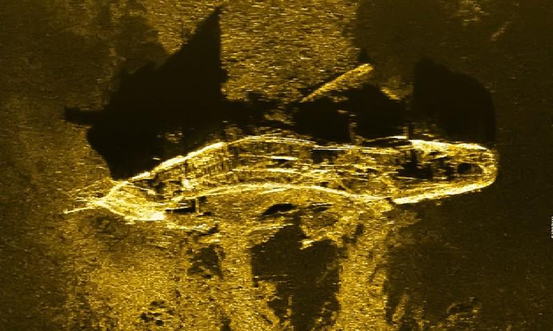 Tình cờ phát hiện xác tàu đắm 200 năm tuổi khi tìm kiếm MH370  - ảnh 1