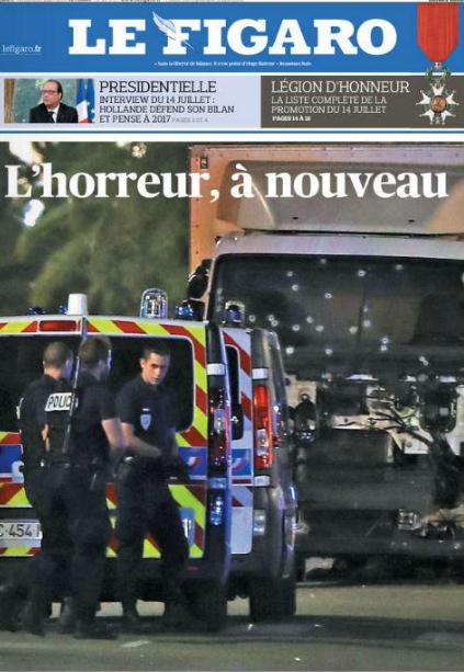Báo Le Figaro (Pháp) đưa tin về vụ tấn công.