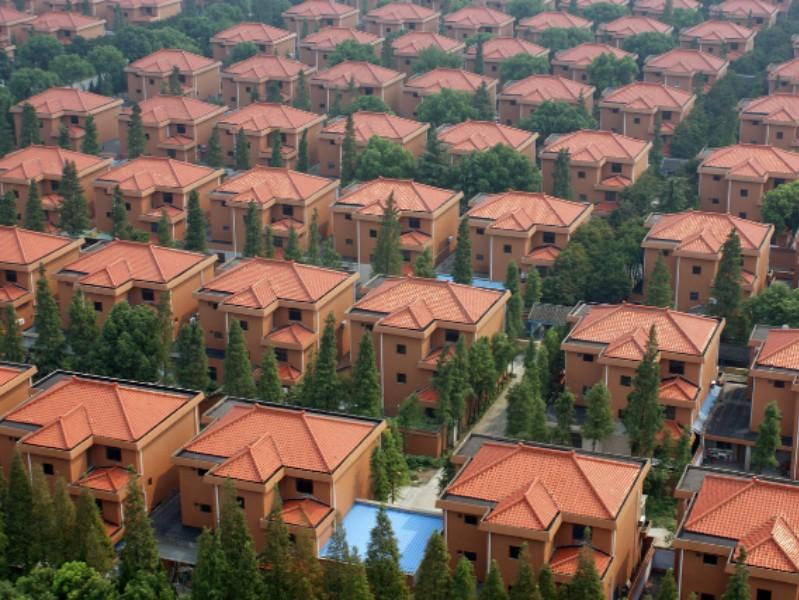 Ngôi làng Lang Tây, thành phố Giang Âm tọa lạc gần bờ biển phía đông Trung Quốc. Ảnh: BusinessInsider