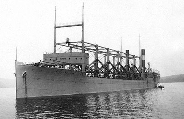 Tàu sân bay USS Cyclops đã mất tích năm 1918 của Mỹ. Ảnh: MIRROR