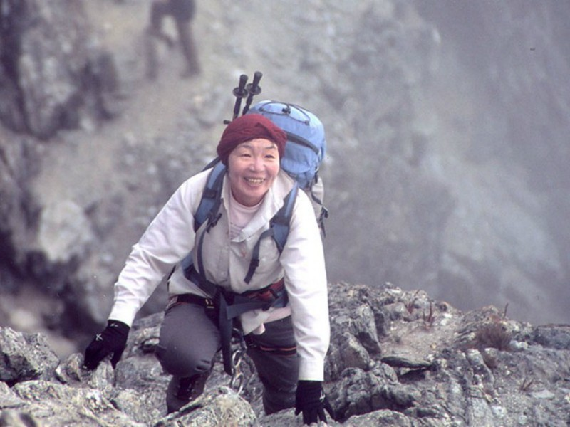 Người phụ nữ đầu tiên chinh phục đỉnh núi Everest, bà Junko Tabei. Ảnh: NEWS INTERNATIONAL