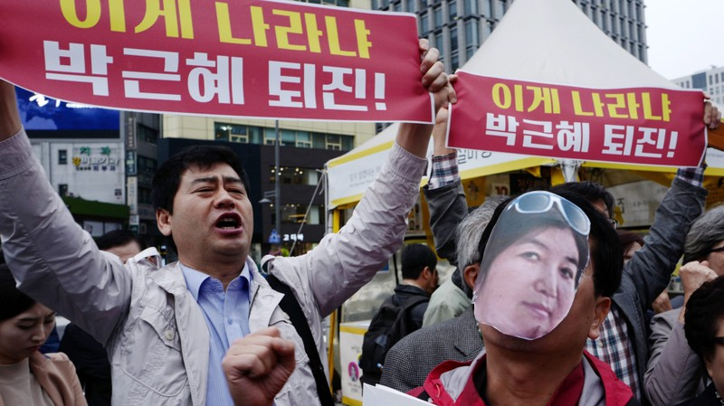 Hàng ngàn người đòi tổng thống Hàn Quốc từ chức
