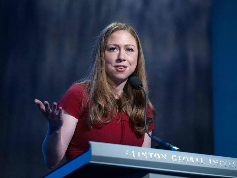 Cô Chelsea Clinton, con gái duy nhất của hai vợ chồng cựu Tổng thống Bill Clinton. Ảnh: GETTY.