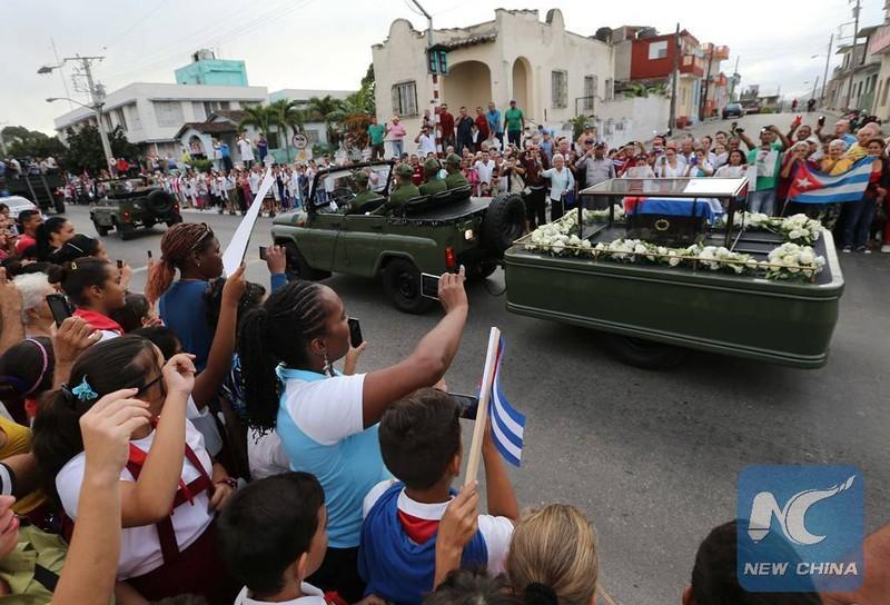 Di cốt lãnh tụ Fidel đã về đến 'cái nôi' cách mạng - ảnh 1