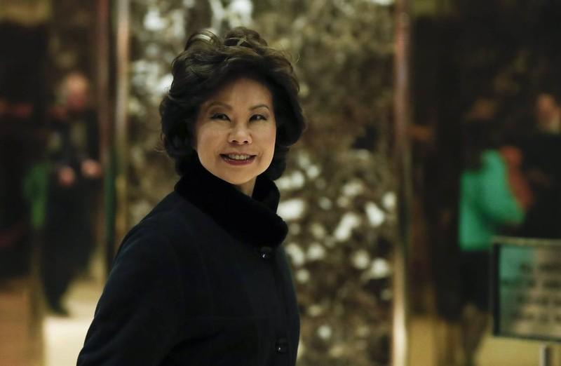Bà Elaine Chao được thừa kế hàng triệu USD từ gia đình. Ảnh: AP