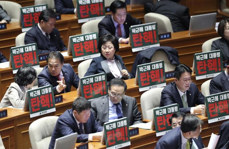 Quốc hội Hàn Quốc cho phép luận tội tổng thống - ảnh 1