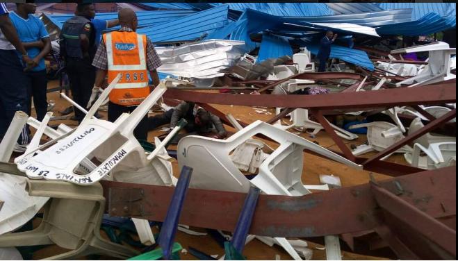 Sập nhà thờ ở Nigeria, 60 người thiệt mạng - ảnh 1