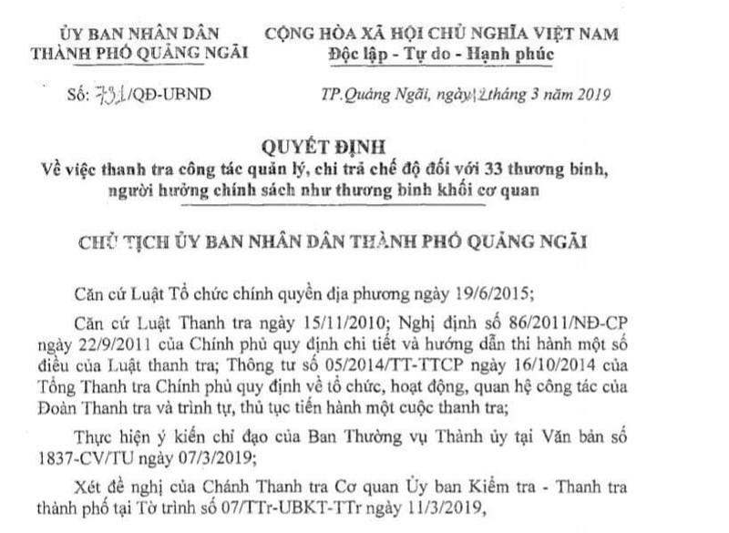 Bắt giam phó cơ quan Tổ chức - Nội vụ TP Quảng Ngãi - ảnh 2