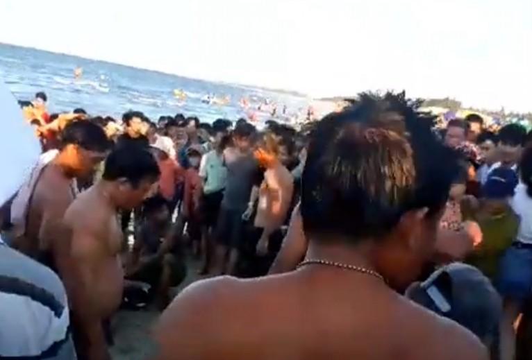 Quảng Nam: 3 người đuối nước ở bãi biển Thống Nhất - ảnh 1