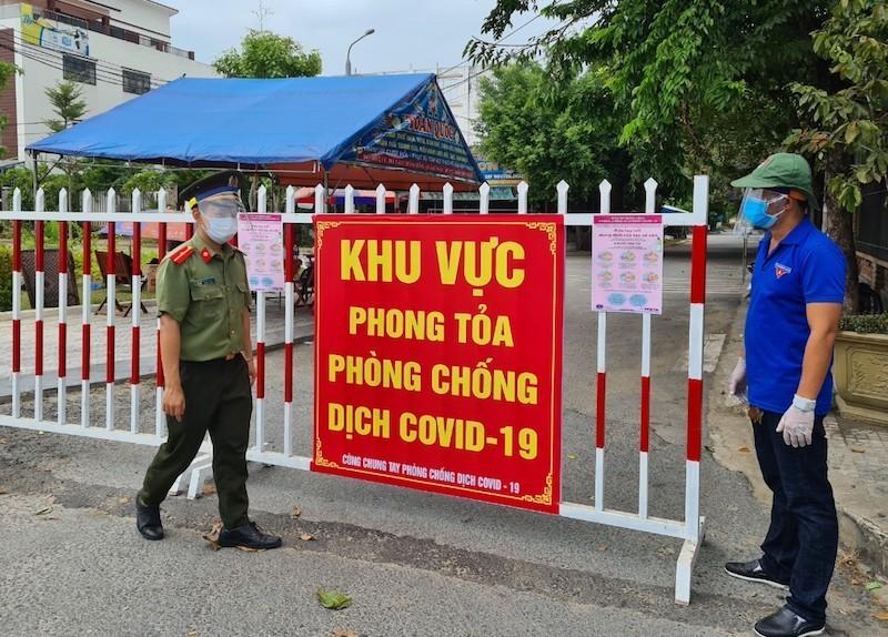 Bên trong khu phong tỏa có 7 người nhiễm COVID-19 ở Quảng Nam - ảnh 1