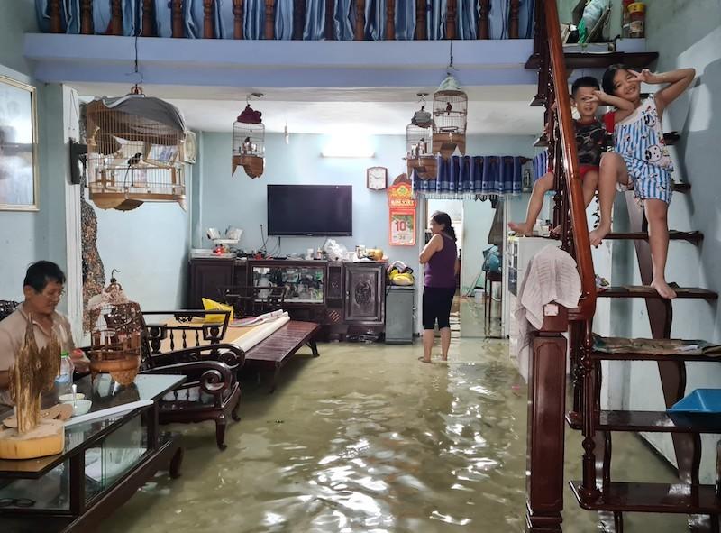 Quảng Nam: Mưa liên tục, TP Tam Kỳ bắt đầu ngập - ảnh 4