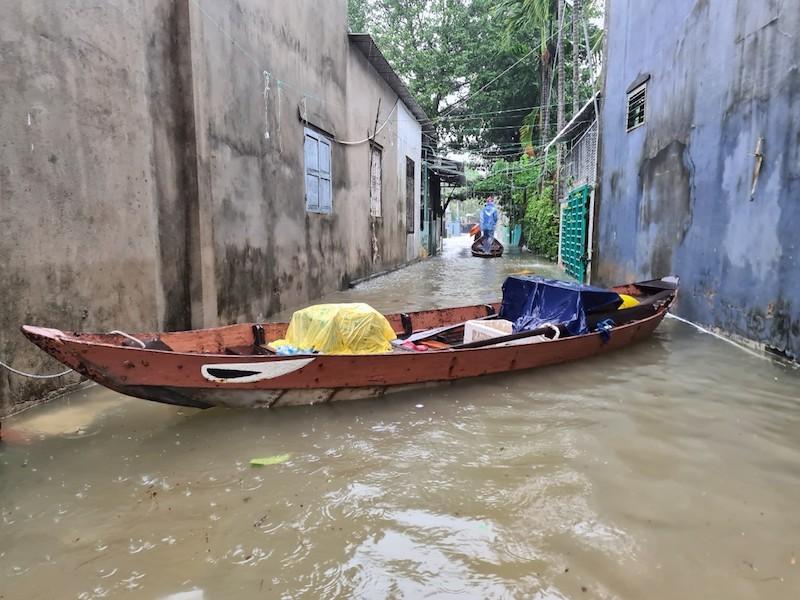 Quảng Nam: Mưa liên tục, TP Tam Kỳ bắt đầu ngập - ảnh 8