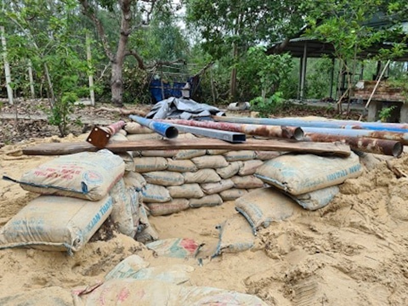 Quảng Nam: Người dân làm hầm tránh bão số 9 - ảnh 6
