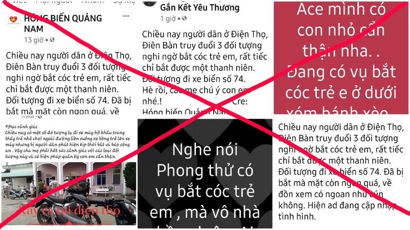 Quảng Nam: Thực hư vụ 'bắt cóc trẻ em' mà mạng xã hội đồn thổi - ảnh 1