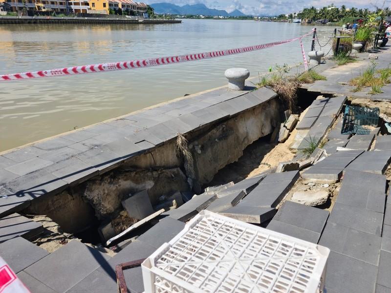 Kè bảo vệ phố cổ Hội An hơn 135 tỉ bị sụt lún  - ảnh 3
