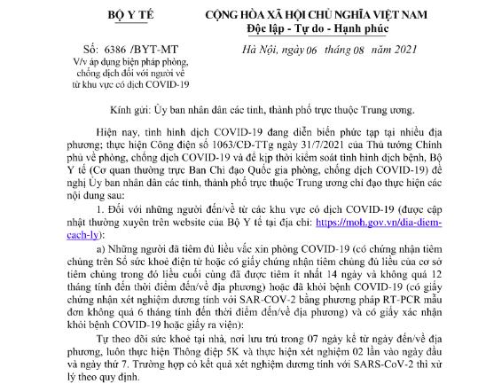 Vì sao Quảng Nam cách ly người đã tiêm 2 mũi vacine, khác quy định của Bộ Y tế? - ảnh 2