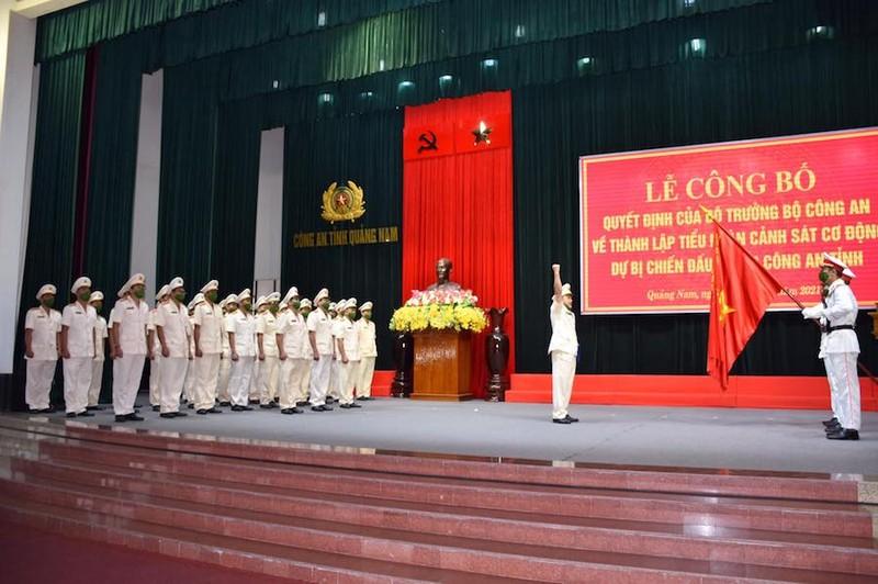Quảng Nam thành lập Tiểu đoàn Cảnh sát cơ động dự bị chiến đấu - ảnh 2
