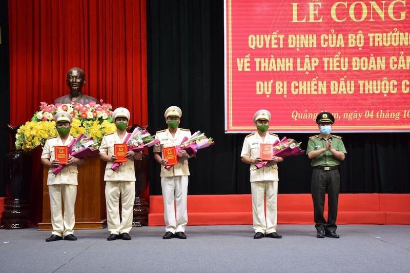 Quảng Nam thành lập Tiểu đoàn Cảnh sát cơ động dự bị chiến đấu - ảnh 1