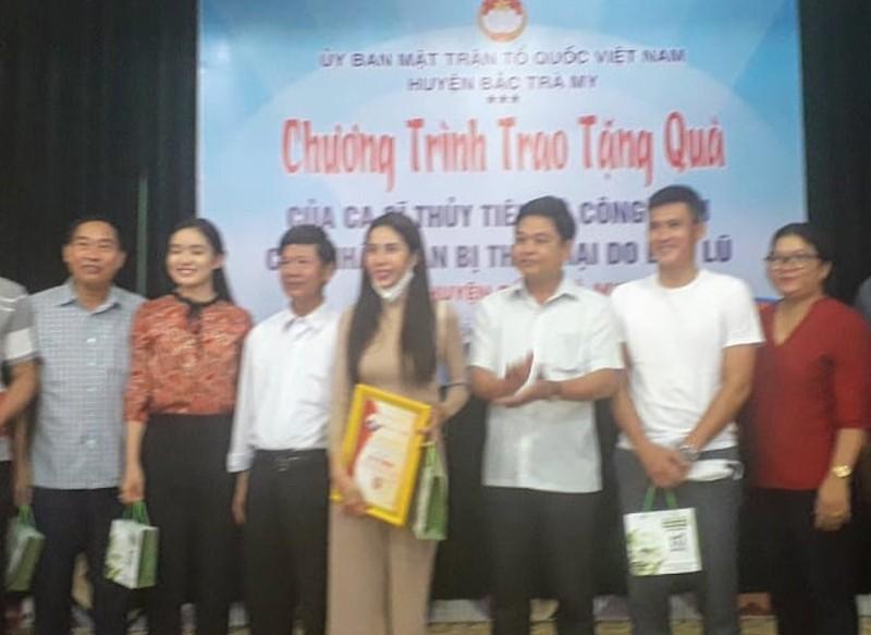 Quảng Nam: Thu thập thông tin làm từ thiện của ca sĩ Thuỷ Tiên gửi Bộ Công an  - ảnh 1