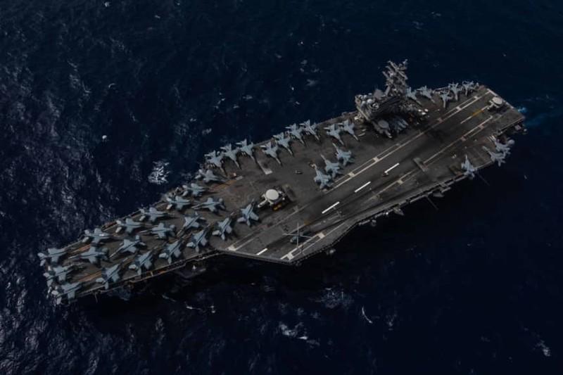 2 tàu sân bay Mỹ diễn tập sau khi ông Pompeo 'nhắn' Trung Quốc - ảnh 1
