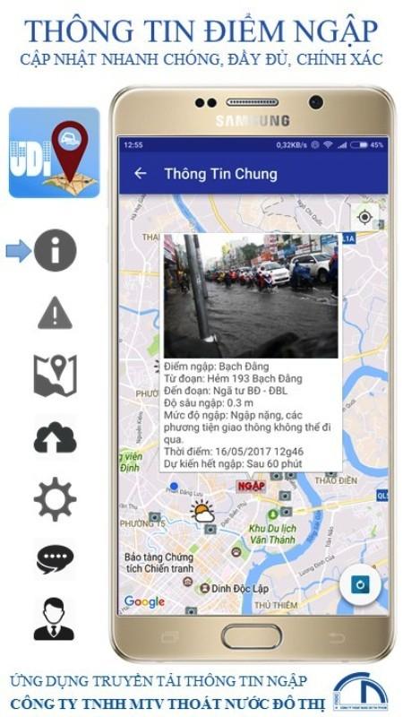 Người Sài Gòn dùng điện thoại để né điểm ngập - ảnh 2