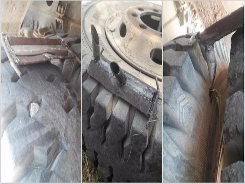Điều tra việc rải bàn chông thép bẫy xe tải - ảnh 1
