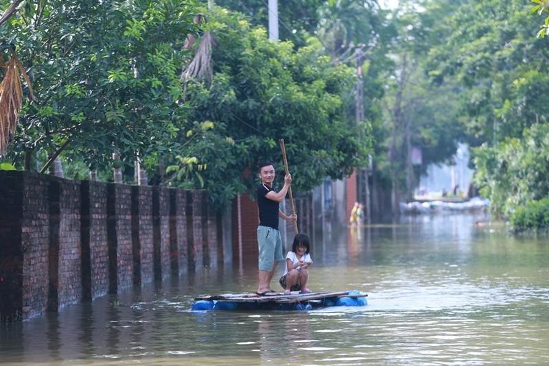 Thủ đô thành sông: Dân thả lưới sân nhà bắt cá - ảnh 1