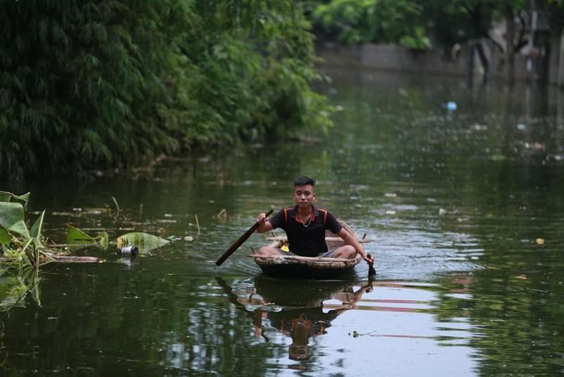 Thủ đô thành sông: Dân thả lưới sân nhà bắt cá - ảnh 12