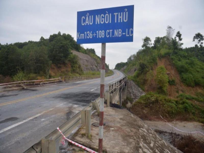 Tổng cục Đường bộ yêu cầu khẩn trương sửa chữa cầu Ngòi Thủ - ảnh 1