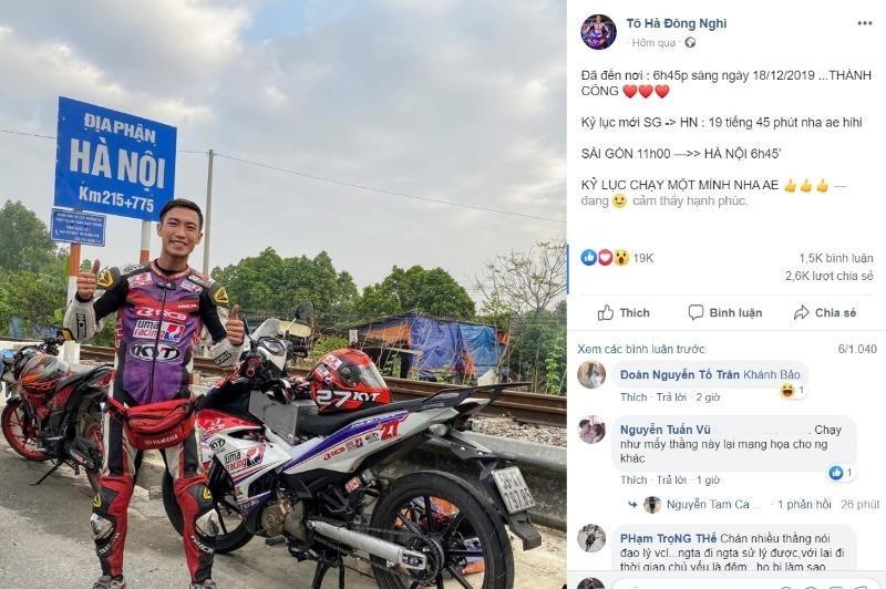 Người khoe chạy xe máy 1.700 km trong 20 giờ bị đề nghị xử lý - ảnh 1