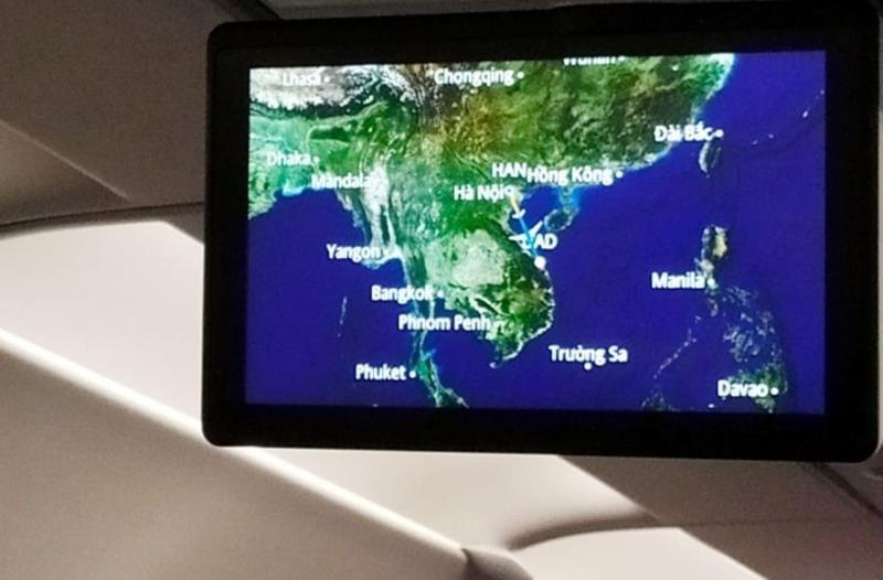 Bản đồ Việt Nam trên Vietnam Airlines thiếu quần đảo Hoàng Sa? - ảnh 1