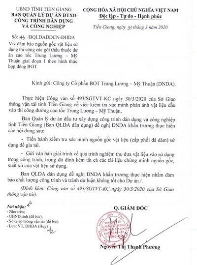 Yêu cầu làm rõ nguồn vật liệu ở cao tốc Trung Lương - Mỹ Thuận - ảnh 2