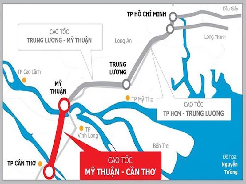 Không ghép cao tốc Mỹ Thuận - Cần Thơ vào một dự án khác - ảnh 1
