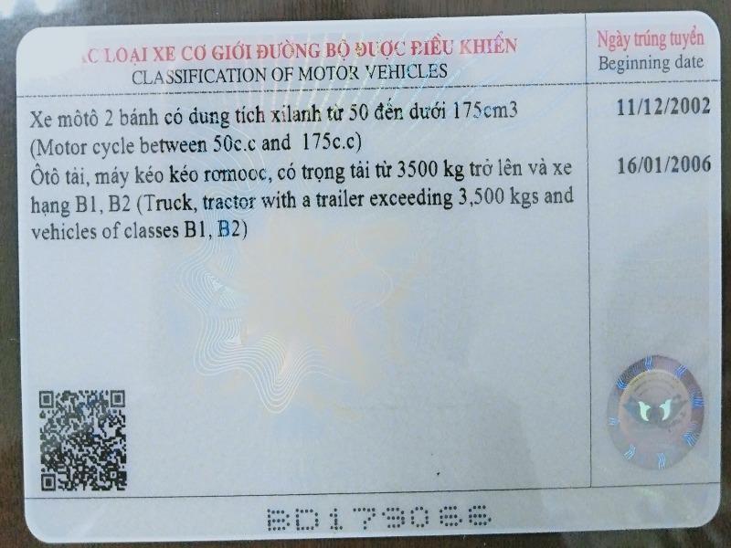 Bằng lái xe in sau ngày 1-6 sẽ buộc phải có mã QR - ảnh 1