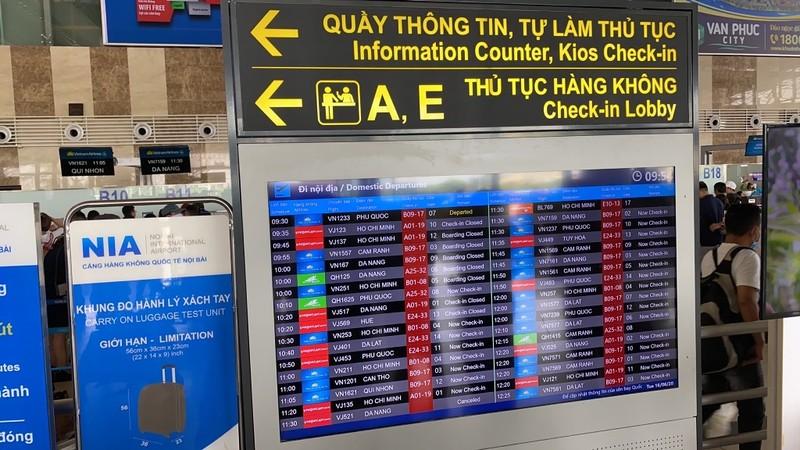 Từ 30-7, sân bay Nội Bài ngừng phát thanh thông tin chuyến bay - ảnh 1