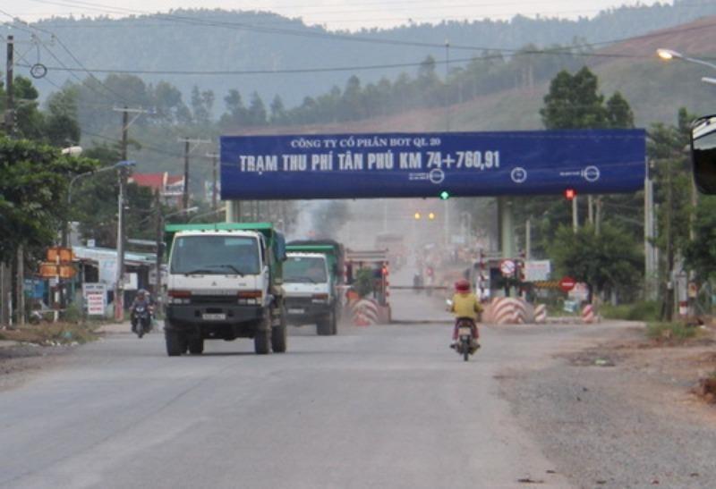 Dừng thu phí trạm BOT Tân Phú từ ngày 20-10 - ảnh 1