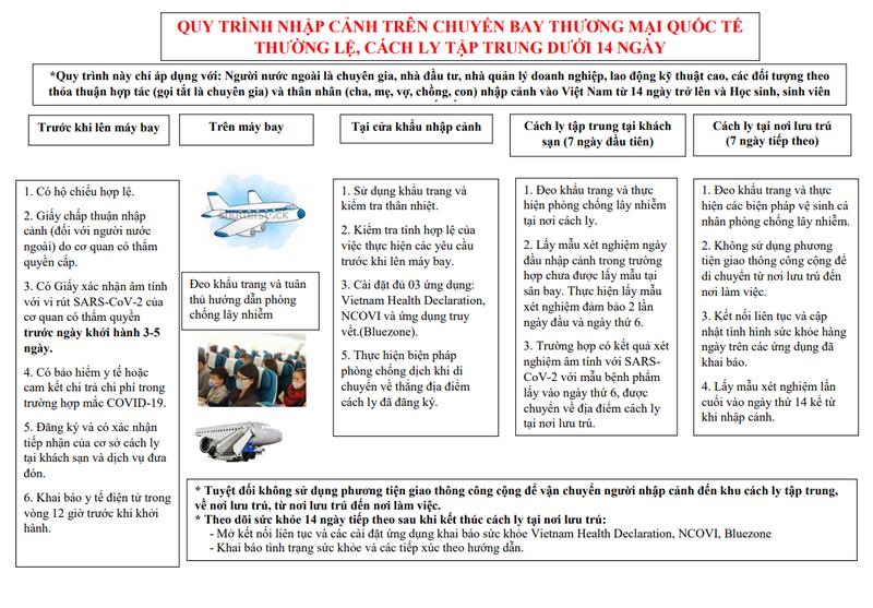 Công bố quy trình nhập cảnh trên chuyến bay thương mại quốc tế - ảnh 2