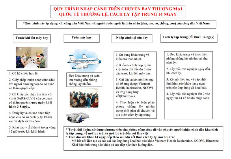 Công bố quy trình nhập cảnh trên chuyến bay thương mại quốc tế - ảnh 1