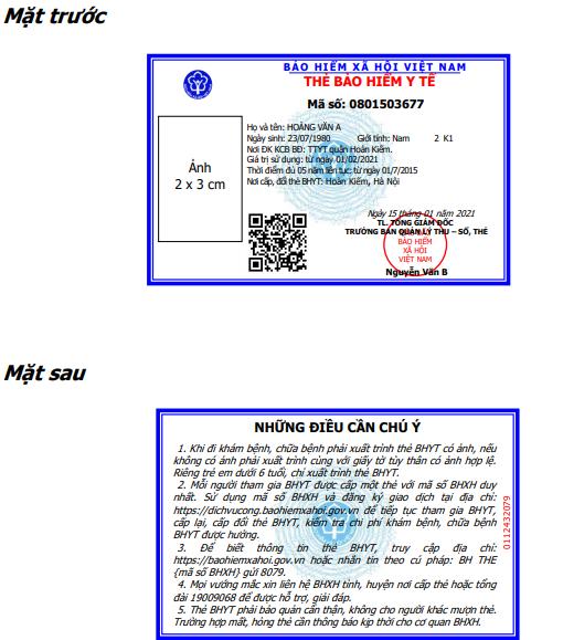 Bảo hiểm xã hội Việt Nam ban hành thẻ BHYT mới - ảnh 1