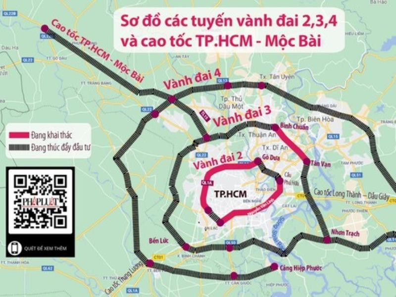 Thủ tướng đồng ý giao 5 tỉnh làm đường vành đai 4 TP.HCM - ảnh 1