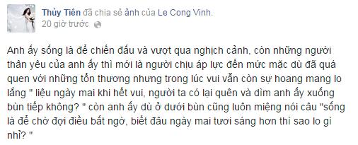 Thủy Tiên muốn khóc theo Công Vinh sau thất bại của tuyển VN