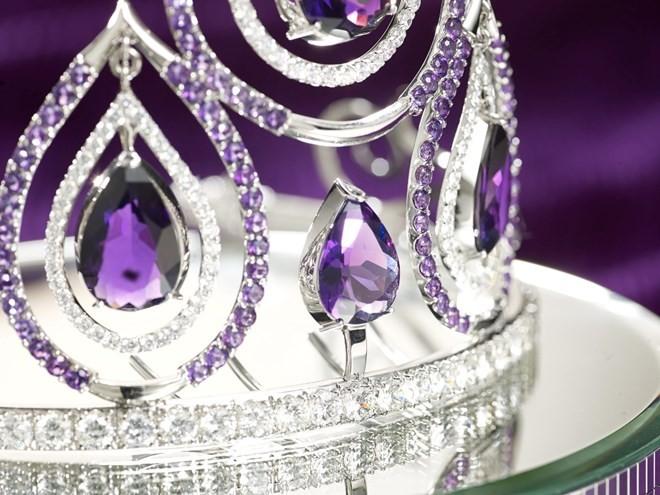 Hình ảnh chiếc vương miện trị giá 1 tỷ đồng của Hoa khôi Áo dài - ảnh 2