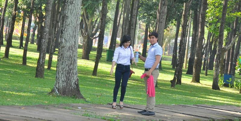 Cận cảnh cây xanh ở công viên Gia Định sắp bị đốn hạ - ảnh 14