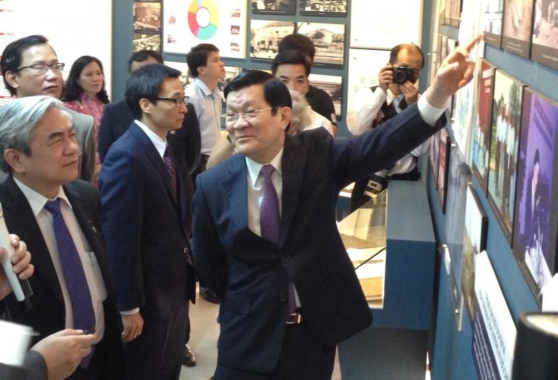 Chủ tịch nước Trương Tấn Sang dự kỷ niệm 20 năm thành lập ĐHQG TP.HCM - ảnh 1