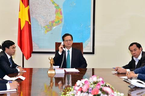Thủ tướng Nguyễn Tấn Dũng điện đàm với Thủ tướng Nhật Bản - ảnh 1